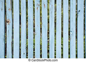 手ざわり, 青, 木製のフェンス, ∥ように∥, 背景