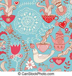手ざわり, 鳥, 素晴らしい, 使われた, 背景, 網, パターン, ページ, seamless, ありなさい, ...
