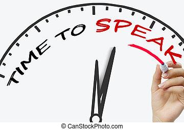 手の執筆, 時間, 話すため, 概念, ∥で∥, 赤, マーカー, 上に, 透明, wipe, board.