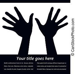 手を伸ばす, 手, design.