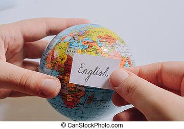 手を持つ, 言葉遣い, 英語, notepaper, 地球