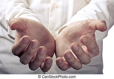 手を 開けなさい