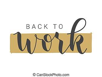 手寫, 矢量, 背, illustration., work., 字母