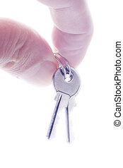 手指, 由于, 房子鑰匙