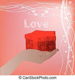 手掛かり, 贈り物の箱, 手の星, 形