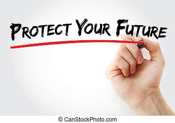 手文字, 保護, 你, 未來