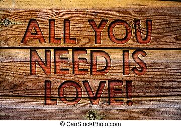 手書き, テキスト, すべて, あなた, 必要性, ある, 愛, motivational., 概念, 意味, 海原,...
