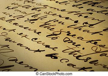 手書き, 手紙, 古い