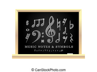 手書き, 音楽的な ノート