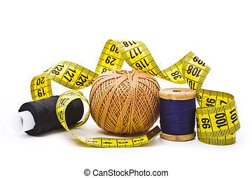 手段 テープ, 糸
