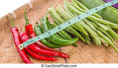 手段 テープ, 野菜
