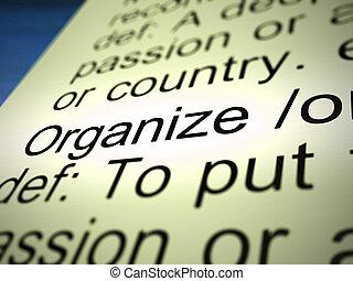 手段, 手配しなさい, -, 組織しなさい, 構成, システマティックに, 3d, イラスト, ∥あるいは∥