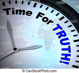 手段, 真実, 決定, 時間, -, 倫理的, 3d, イラスト, 正直