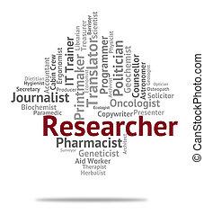 手段, 研究者, 分析しなさい, 分析, 求人, 仕事