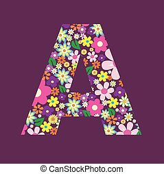 手紙, の, 美しい, 花, a