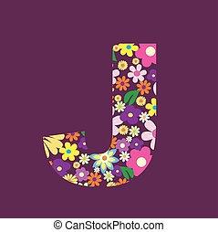 手紙, の, 美しい, 花, j