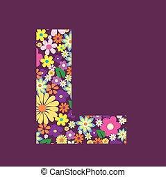 手紙, の, 美しい, 花, l