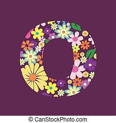手紙, の, 美しい, 花, o
