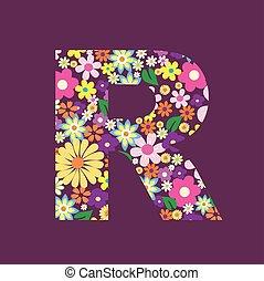 手紙, の, 美しい, 花, r