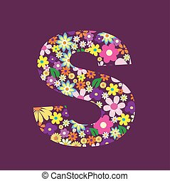 手紙, の, 美しい, 花, s