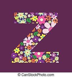 手紙, の, 美しい, 花, z