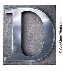 手紙, タイプスクリプト, d, 大文字
