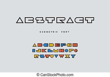 手紙, ポンとはじけなさい, アルファベット, 幾何学的, ベクトル, 漫画, 最小である, font., 大文字, 芸術, 活版印刷, 抽象的なデザイン, ロゴ, 有色人種, 面白い