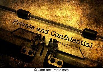 手紙, 私用, 機密, タイプライター
