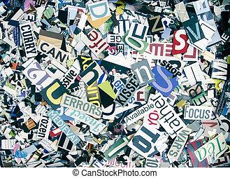 手紙, 言葉, 任意である, 雑誌, 背景, 紙ふぶき