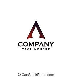 手紙, concept., デザイン, 最小である, logo.