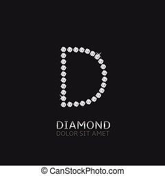 手紙, d, 宝石用原石