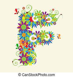 手紙, f, また, 見なさい、, 手紙, 花, 私, ギャラリー, design.