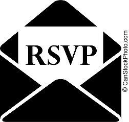 手紙, pictogram, rsvp, ベクトル