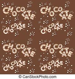 手紙, seamless, チョコレート, デザイン, 白, 3d