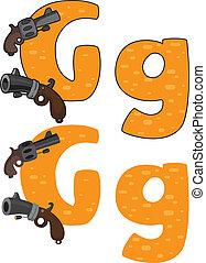 手紙g, 銃
