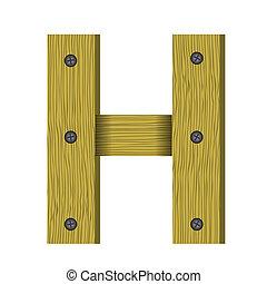 手紙h, 木