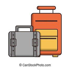 手荷物, ホテル, デザイン, サービス