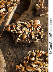 Unts, チョコレート, 暗い, pecan, 英語, タフィー. たたき切った ...