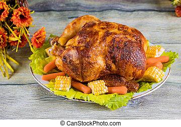 手製, 他, day., 皿, 焼かれた, トルコ, .thanksgiving