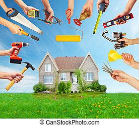 手, ∥で∥, 建設, tools.