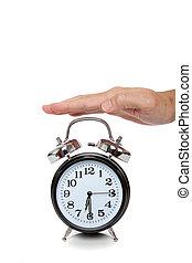 手, のために達すること, 目覚し 時計, 白