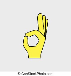 手, オーケー, ジェスチャー