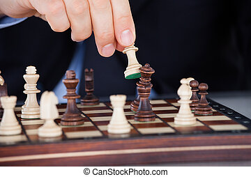 手, チェス, 人間, 遊び
