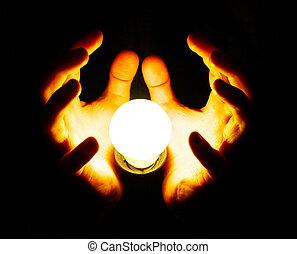 手, ランプ