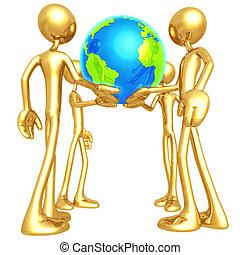 手, 世界, 我们