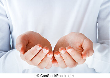 手, 中に, ∥, 行為, の, 提出すること, 何か