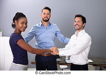 手, 人々ビジネス, ミーティング, 動揺, 部屋
