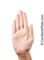 手, 作りなさい, 止まれ, シンボル