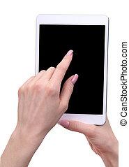 手, 保有物, タブレット, 感触, コンピュータ