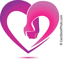 手, 保有物, 中に, a, 中心の 形, ロゴ